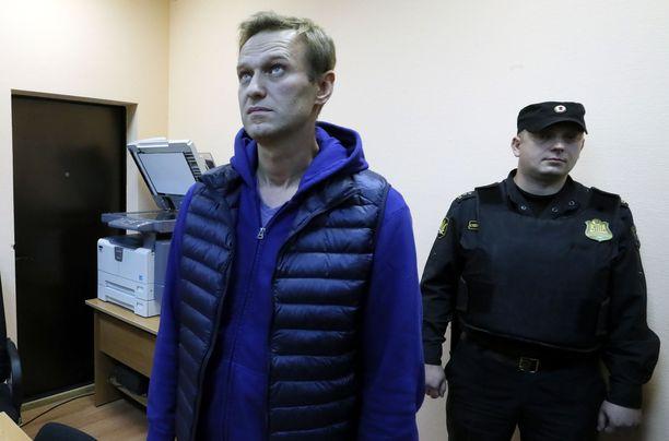 Aleksei Navalnyi alueoikeudessa Moskovassa syyskuussa.