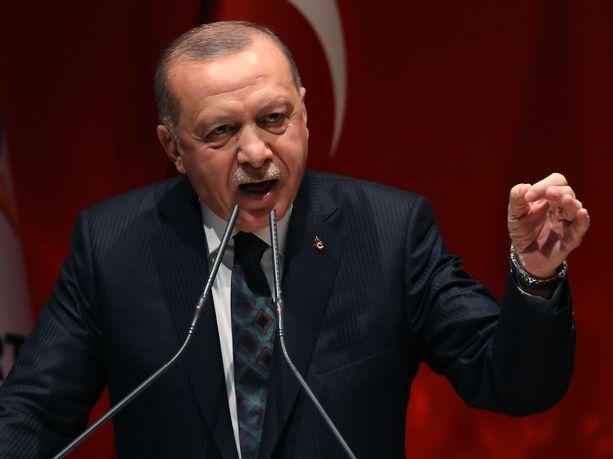 Turkin presidentti Recep Tayyip Erdogan suhtautuu penseästi Yhdysvaltojen vaatimuksiin tulitauosta Pohjois-Syyrian kurdijoukkoja vastaan.