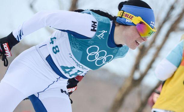 Krista Pärmäkoski voitti vasta toisena suomalaisnaisena arvokisamitalin vapaalla hiihtotavalla normaalimatkan kilpailussa.