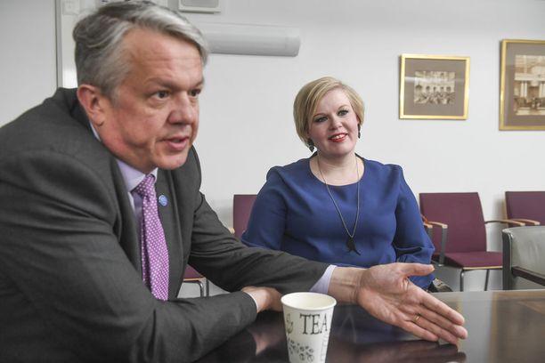 Annika Saarikko ja Juha Rehula