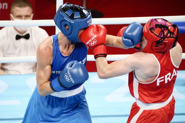Mira Potkonen avasi olympialaiset ottelulla Maiva Hamadouchea vastaan.