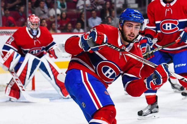 Daniel Audette pelasi Montreal Canadiensin riveissä harjoitusottelukaudella 2017.