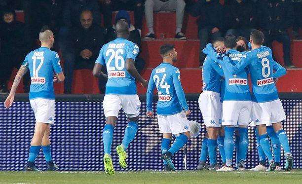 Napoli juhli kahdesti Beneventon kotistadionilla.