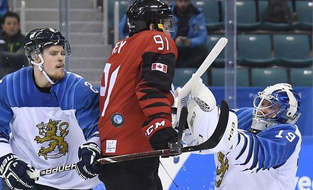 Leijonien maalivahti Mikko Koskinen yllätettiin vain kerran, mutta se riitti Kanadalle voittoon.
