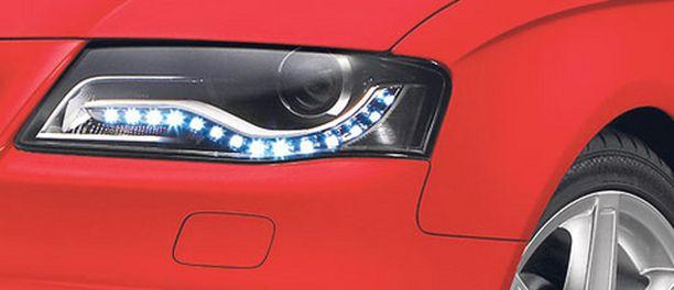 SAA AJAA - LED-päivävalot kelpaavat ajovaloiksi päivällä, huonoissa oloissa eivät.