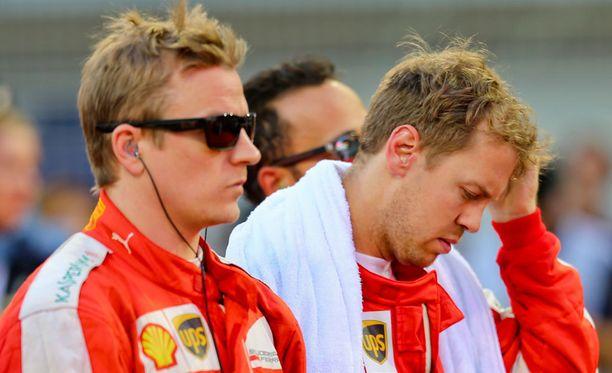 Kimi Räikkönen aikoo lopettaa uransa Ferrarilla, samaa pohtii Sebastian Vettel.