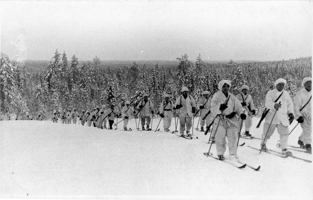 Suomalaissotilaat taistelivat talvisodassa vuosina 1939–1940. Kuvituskuva arkistosta.
