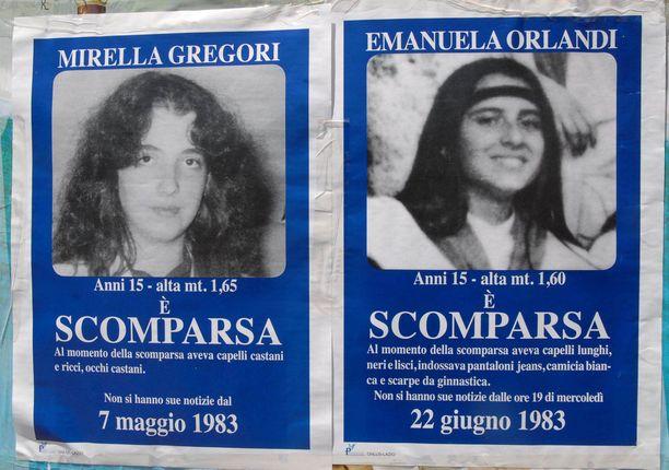Mirella Gregori Emanuela Orlandi katosivat kesällä 1983.