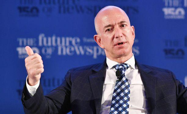 Amazonin omistaja Jeff Bezos on maailman rikkain mies.