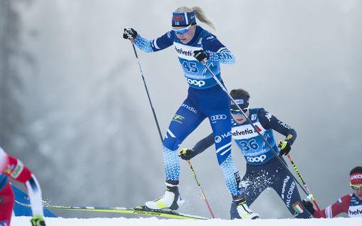 Anne Kyllönen ja Kerttu Niskanen etenivät sprinttikarsinnasta jatkoon – tahallaan häviämistä pyöritellyt Iivo Niskanen jäi aika-ajoihin