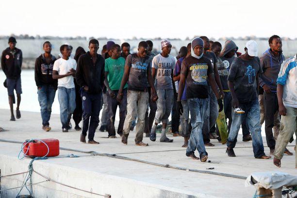 Libyasta on tullut suosittu reitti turvapaikanhakijoille ja siirtolaisille Afrikasta Eurooppaan. Arkistokuva.