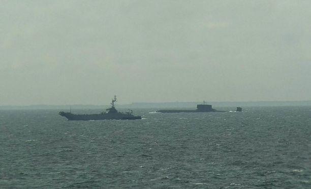 Sukellusvene Dmitri Donskoi lipuu parhaillaan Itämerellä.