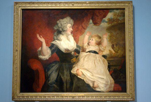 Oikea Georgiana Cavendish ikuistettuna tauluun.