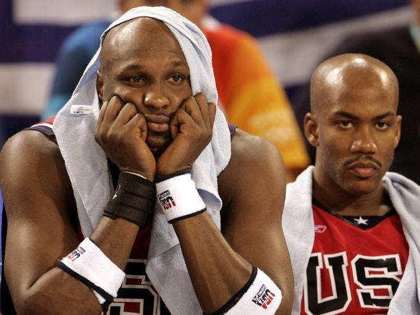 Lamar Odom ja Stephon Marbury joutuivat pettymään Ateenan olympialaisissa.