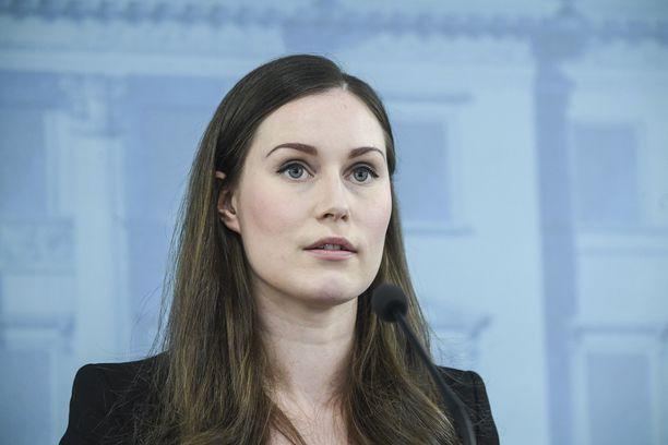 Hallitus tiedotti koronaviruksesta jo helmikuun lopulla. Kuvassa pääministeri Sanna Marin.