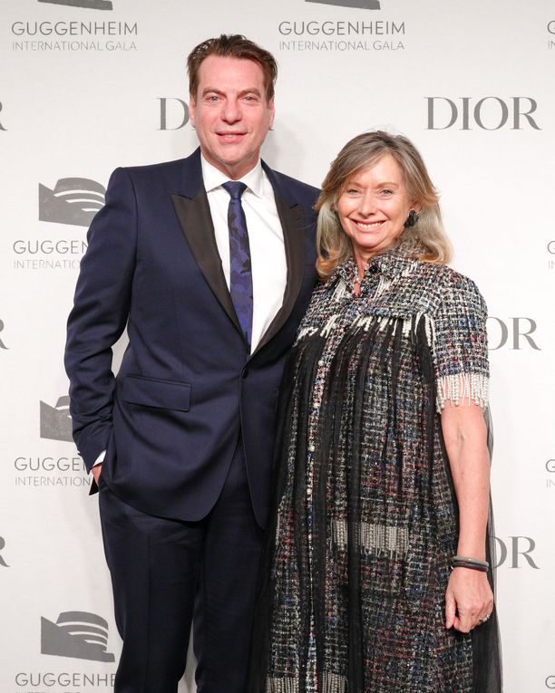 Yhteistyökumppanit David Maupin ja Anita Zabludowicz osallistuivat myös Guggenheim-gaalaan.