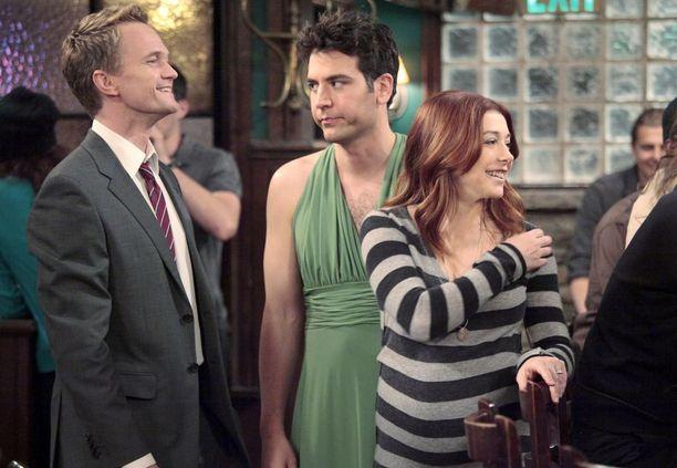 How I Met Your Mother -sarjan Barney (Neil Patrick Harris), Ted (Josh Radnor) ja Lily (Alyson Hannigan).