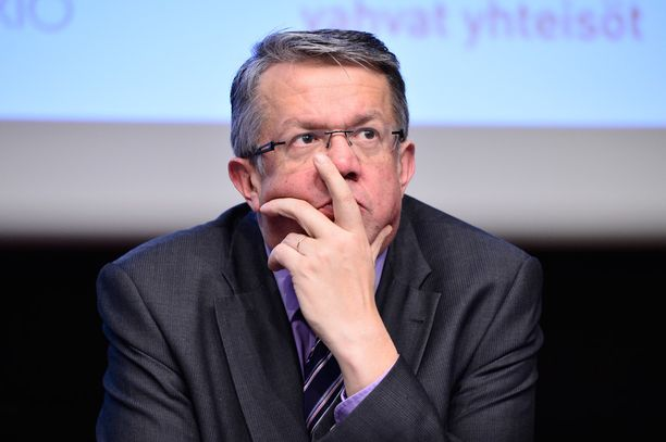Keskustan varapuheenjohtaja Juha Rehula puhui keskustan tilaisuudessa Iitissä. Arkistokuva.