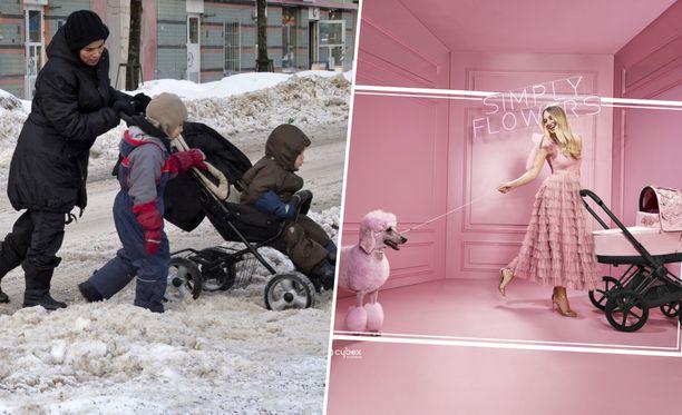 Suomen sää on harvoin sopiva remmikorkokengille ja röyhelömekolle.