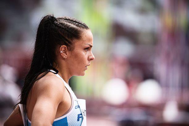 Maria Huntington kilpaili seitsenottelussa Tokion olympialaisissa.