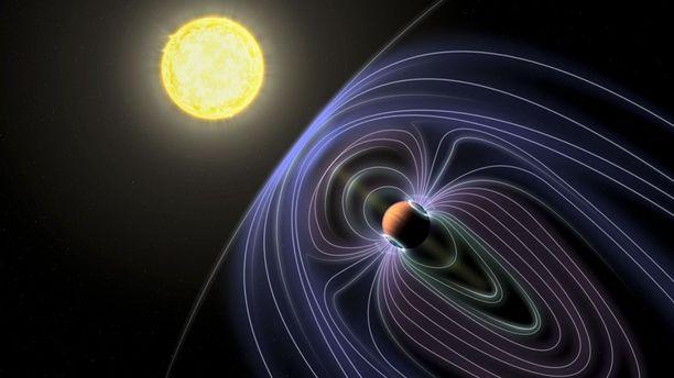 Tau Boötisiä kiertää 7-8 Jupiterin massainen suuri planeetta, jota suojaa magneettikenttä.
