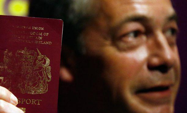 Politiikan moniottelija Nigel Farage on näkyvin EU-eroamisen puolestapuhuja.