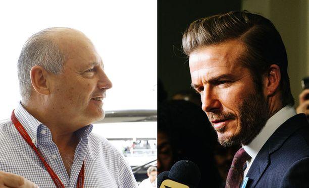 Ron Dennis ja David Beckham ajautuivat äänekkääseen sanaharkkaan Malediiveilla.