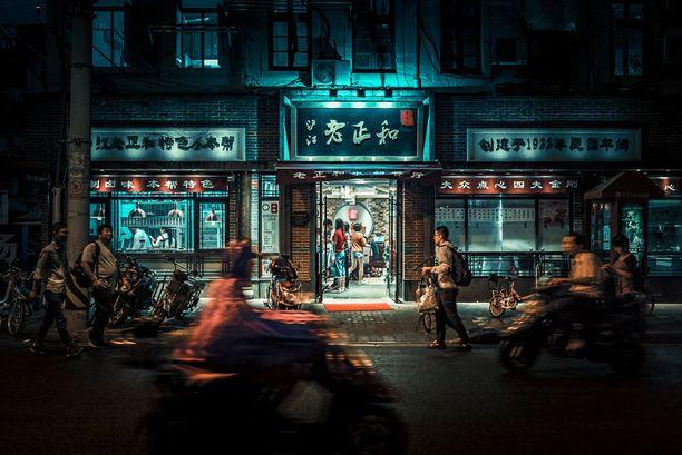Shanghain vilinään on helppo upota yksinkin.