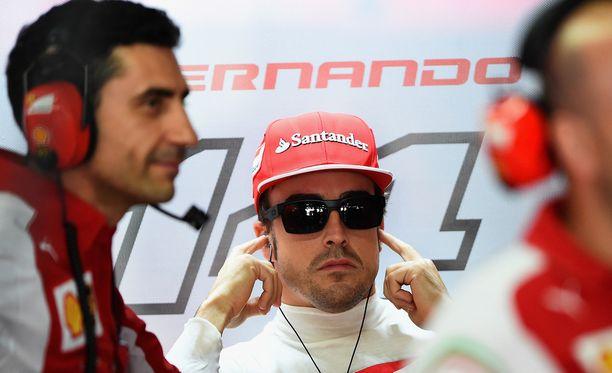 Fernando Alonso on Ferrarin ykköskuljettaja, mutta hänkään ei ole päässyt nauttimaan menestyksestä.