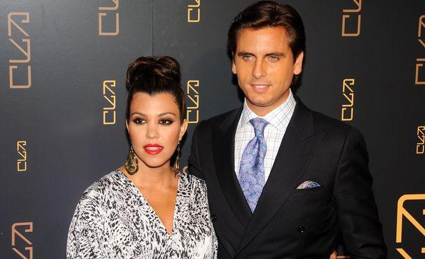 Kourtney Kardashian ja Scott Disick vuonna 2012, kun asiat olivat vielä hyvin.