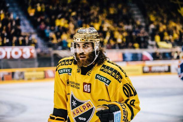 Mathew Maione kantoi KalPan kultakypärää kaudella 2017-18.