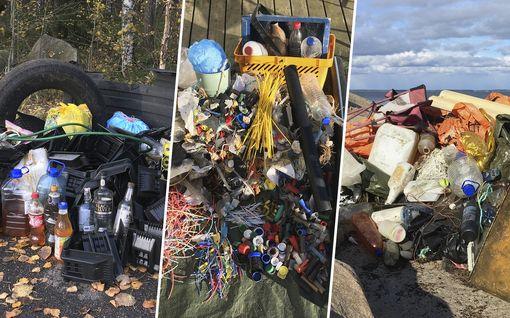 Karmea saldo: Inkeri ystävineen keräsi luonnosta 1 370 kiloa jätettä – rannalta löytyi jääkaappi