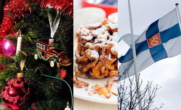 Tänä vuonna jouluun sijoittuu kaksi vapaata. Myös vappu ja itsenäisyyspäivä sijoittuvat arkipäiville.