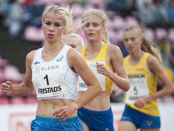 Alisa Vainio kilpaili viimeksi Ruotsi-ottelussa Tampereella kuun vaihteessa.