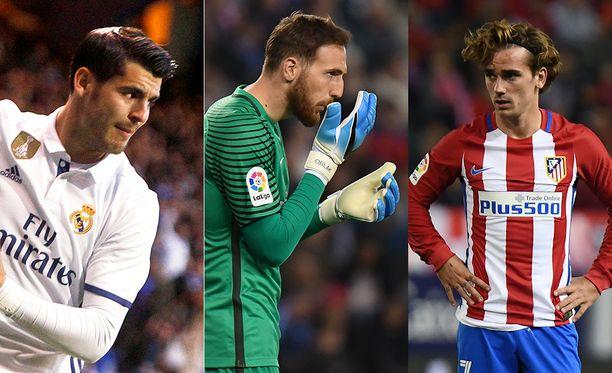 Álvaro Morata, Jan Oblak ja Antoine Griezmann ovat Manchester Unitedin ostoslistalla.