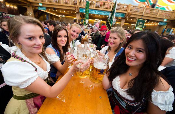 Oktoberfest kerää vuosittain Baijeriin miljoonia vieraita.