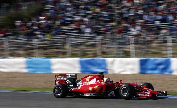 Sebastian Vettel tykitti mainion ajan.