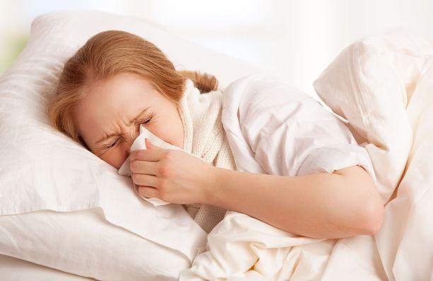 Aikuinen sairastaa keskimäärin pari-kolme flunssaa vuodessa.