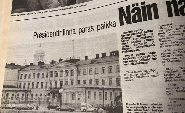 Iltalehti kertoi vuonna 1990 vinkkejä siihen, missä presidentit voi nähdä.