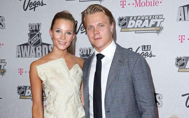 Emmi ja Mikael Granlund avioituivat heinäkuussa.