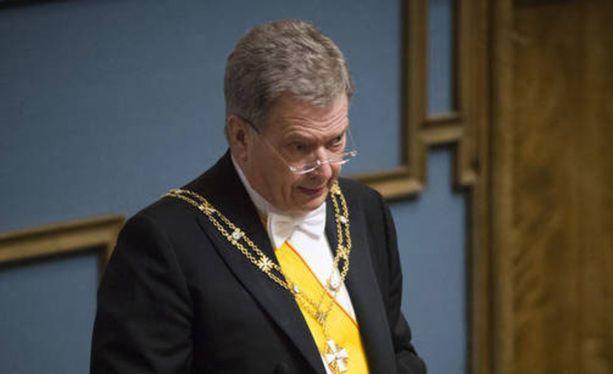 Sauli Niinistö avasi valtiopäivät nostamalla talouden ongelmat painokkaasti esille. KUVA: INKA SOVERI