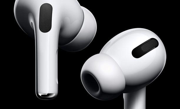 Airpods Pro -kuulokkeissa on vaihdettavat silikoninapit.