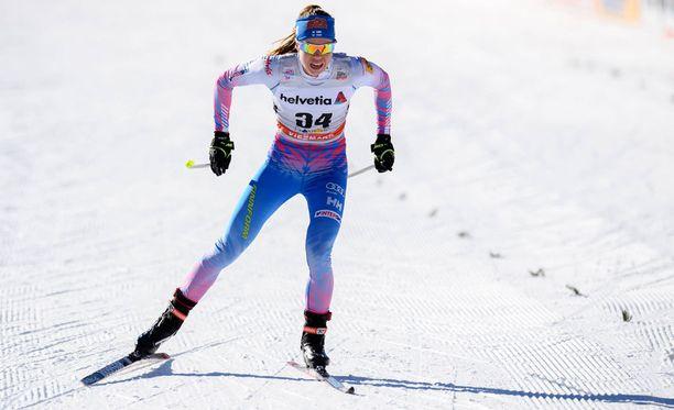 Laura Mononen oli Val Mustairin sprintin aika-ajossa nopein suomalainen.