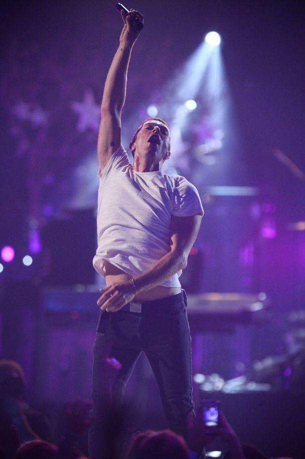 Chris Martin esiintyi Las Vegasissa.
