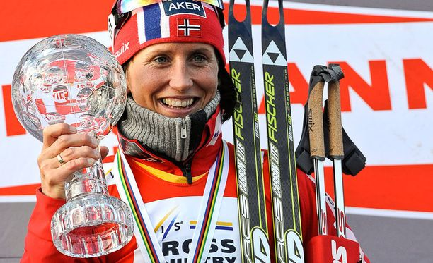 Marit Björgen on tottunut voittamaan.