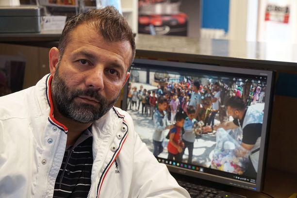 Rami Ahdam esiintyi julkisuudessa Syyrian hätää kärsivien lasten auttajana ja kävi useasti Syyriassa.