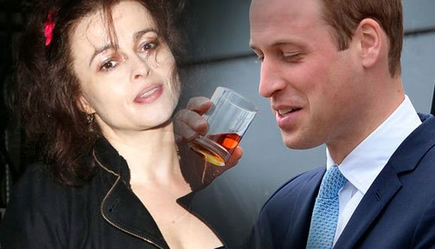 Helena Bonham Carter pyysi itseään prinssi Williamia lapsensa kummiksi.