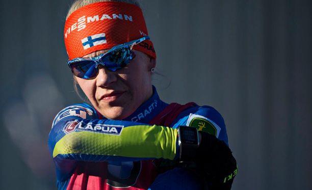Kaisa Mäkäräinen ei saanut Viessmannista omaa lakkisponsoriaan, vaan siitä tuli koko maajoukkueen yhteistyökumppani.