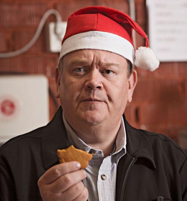 Huutokauppakeisari joulutunnelmissa vuosi sitten.