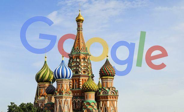 Google on joutunut Venäjän hampaisiin.